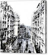 Watercolor Montmartre Canvas Print