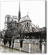 Watercolor Notre Dame Canvas Print