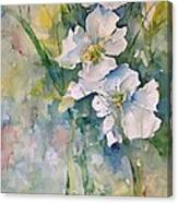Watercolor Wild Flowers Canvas Print