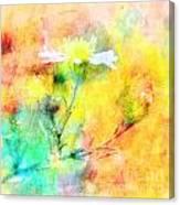 Watercolor Wildflowers - Digital Paint Canvas Print