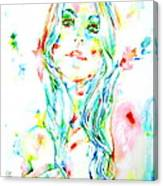 Watercolor Woman.1 Canvas Print