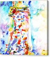 Watercolor Woman.18 Canvas Print
