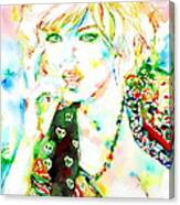 Watercolor Woman.3 Canvas Print