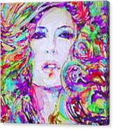 Watercolor Woman.32 Canvas Print