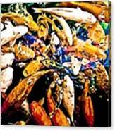 Watercolored Koi Canvas Print