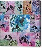Watercolour Birds Canvas Print