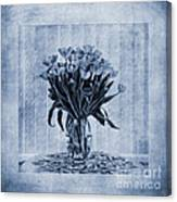 Watercolour Tulips In Blue Canvas Print