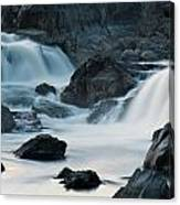 Waterfall After Dusk Canvas Print