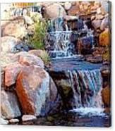 Waterfall Among Rocks Canvas Print