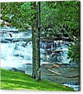 Waterfall And Hammock In Summer 2 Canvas Print
