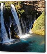 Waterfall And Rainbow 4 Canvas Print
