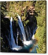 Waterfall And Rainbow Canvas Print