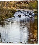 Waterfall At Bonneyville Canvas Print
