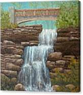 Waterfall At East Hampton Canvas Print
