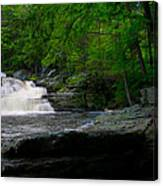 Waterfall At George W Childs Park Canvas Print