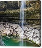 Waterfall At Hamilton Pool Canvas Print