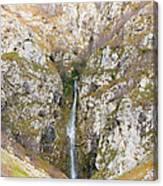 Waterfall At Lago Del Matese Canvas Print