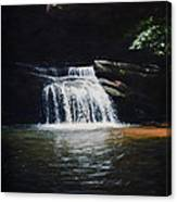 Waterfall At Table Rock National Forest Canvas Print