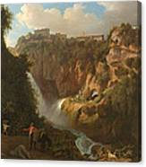 Waterfall At Tivoli Canvas Print