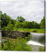 Waterfall At Valley Creek Near Valley Forge Canvas Print