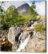 Waterfall Below Stob Dearg Canvas Print