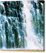 Waterfall Closeup Painting Canvas Print