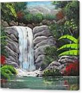 Waterfall Fantasy Canvas Print