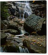 Waterfall In A Forest, Arethusa Falls Canvas Print