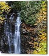 Waterfall In Autumn Canvas Print