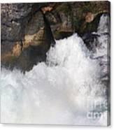 Waterfall In Neuhausen Near Schaffhausen Canvas Print