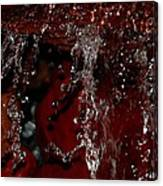 Waterfall In Red Canvas Print
