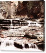 Waterfall In Sepia Canvas Print