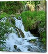 Waterfall In Spearfish Cayon South Canvas Print