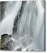 Waterfall In Spring Canvas Print