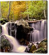 Waterfall In The Mountain Canvas Print