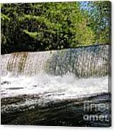 Waterfall In Woodstock Vermont Canvas Print