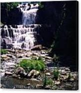 Waterfall Into The Stream Canvas Print