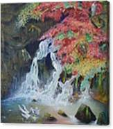 Japanese Waterfall Canvas Print