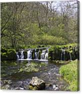 Waterfall Lathkill Dale Derbyshire Canvas Print