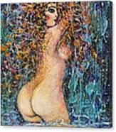 Waterfall Nude Canvas Print
