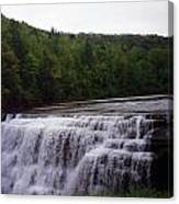 Waterfall On The River Canvas Print
