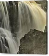 Waterfall On The Rocks Canvas Print