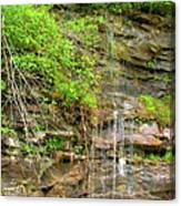Waterfall On The Way To Thurmond Canvas Print