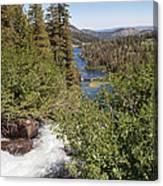 Waterfall Outside Lake Mcleod California Canvas Print