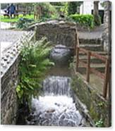 Waterfall Outside The Fish Place In Ballykissangel Canvas Print