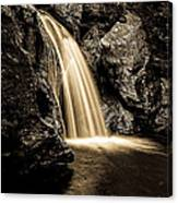 Waterfall Stowe Vermont Sepia Tone Canvas Print