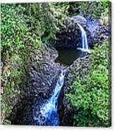 Waterfalls And Pools Maui Hawaii Canvas Print