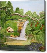 Waterfalls At Red Butte Garden Canvas Print