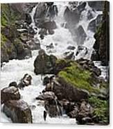 waterfalls in Pre Saint Didier Canvas Print
