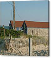 Waterfront Beach Cottages Canvas Print